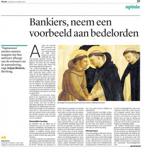 Bedelbanken - opinie Trouw 18 april 2015
